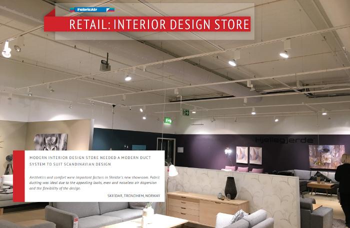 Projectair sistema diffusione aria magazzino showroom for Arredamento magazzino
